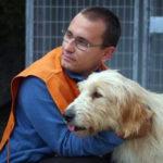 Cani di APACA in centro a Belluno per la chiusura del corso